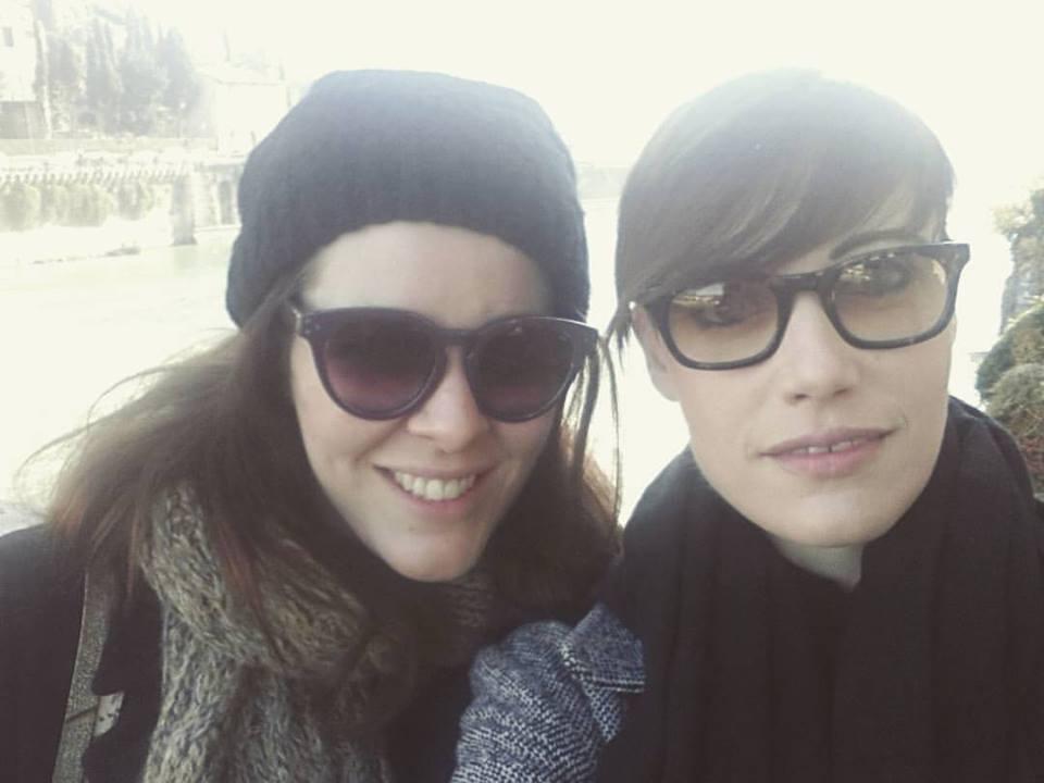 io e Annarita sul fiume